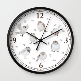 Sparrows Wall Clock