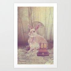 Fairy tale : rabbit Art Print