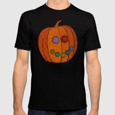 Patterned pumpkin  MEDIUM Black Mens Fitted Tee