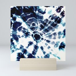 Tie Dye Sunburst Blue Mini Art Print