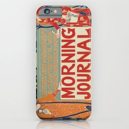 American art nouveau newspaper advertising iPhone Case