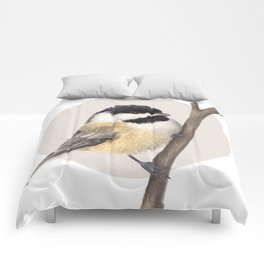 Black Capped Chickadee Comforters