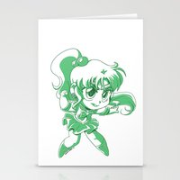 sailor jupiter Stationery Cards featuring Sailor Jupiter by TheLoreFactory