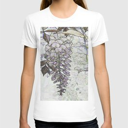 Wisteria Abstract T-shirt