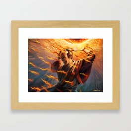 Steal the Candle's Flame Framed Art Print