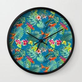 Flower Fest Wall Clock