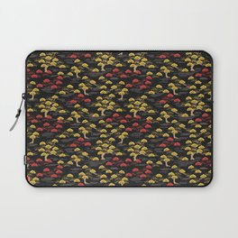 Chinese red and yellow Willow pattern Laptop Sleeve