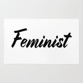 Feminist (on white) Rug