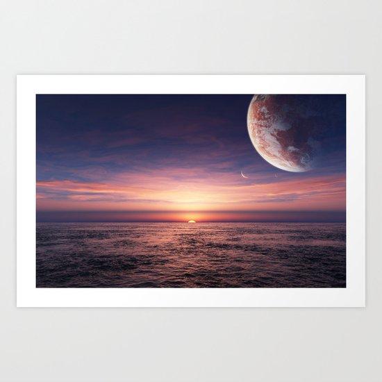 Ocean pastel Art Print