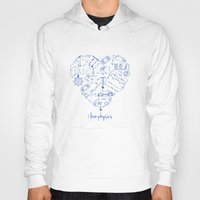 physics Hoodies featuring I heart physics by lucylamplight