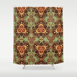 Tribal Echinoidea Shower Curtain