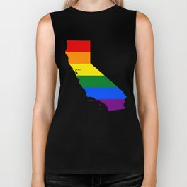 California Gay Pride Rainbow Flag LGBT Shirt Biker Tank