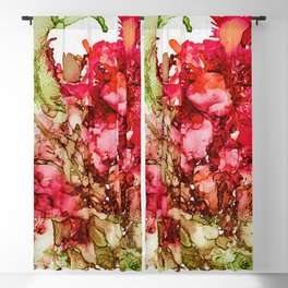 Alcohol Ink Cactus Flower Blackout Curtain