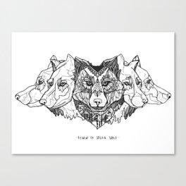 Learn To Speak Wolf Canvas Print