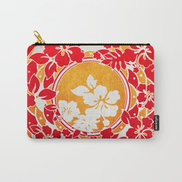Hawaiian Red Gold Disc Carry-All Pouch