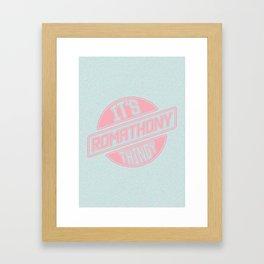 It's Roma Thony Thingy Framed Art Print