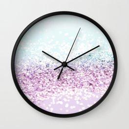 Mermaid Girls Glitter #1 #shiny #pastel #decor #art #society6 Wall Clock