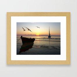 L'appel de la mer Framed Art Print