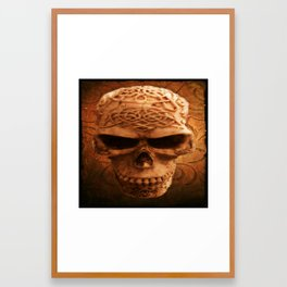 Simply Skull Framed Art Print