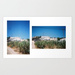The house boat Art Print