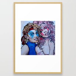Jem and Dazzler - Kylie and Dannii Minogue Framed Art Print