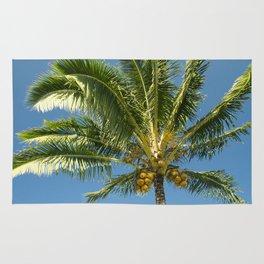 Hawaiian Coconut Palm Tree Rug