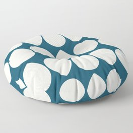 Wilma in Navy Blue and Ivory Floor Pillow