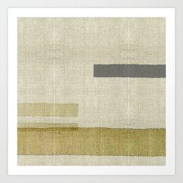 """Burlap Texture Natural Shades"" Art Print"