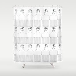 I pick my afro Shower Curtain