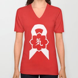 Key Clothing Canada Essence Ribbon Logo Unisex V-Neck