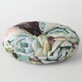 California Potted Succulents Floor Pillow