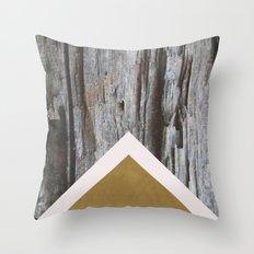 Wooded Chevron Throw Pillow