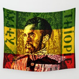 Haile Selassie King Wall Tapestry