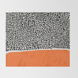 City Sunset Abstract Throw Blanket