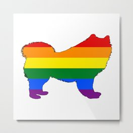 Rainbow Samoyed Metal Print