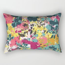 Pattern Design Multicolor Grunge Style Rectangular Pillow