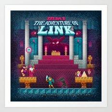 The Link Adventure of Zelda, too Art Print