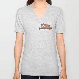 Happy Sloth Unisex V-Neck