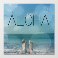 aloha Canvas Prints featuring ALOHA by mark ashkenazi