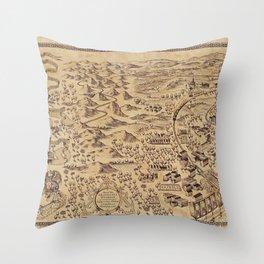Marauder's Map (complete) Throw Pillow