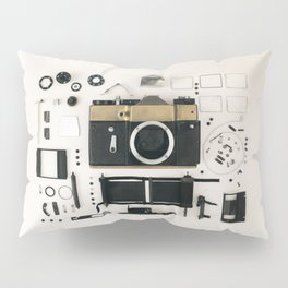 Camera gold Pillow Sham