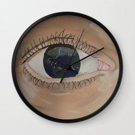 Eye Am The World Wall Clock