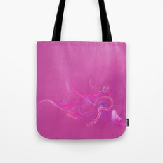Bright Pink Octopus Tote Bag