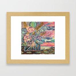 Paradise Florals Framed Art Print