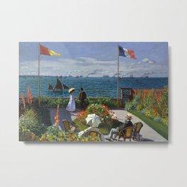 Garden at Sainte-Adresse by Claude Monet Metal Print