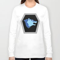 hologram Long Sleeve T-shirts featuring Visionaries Wolf by Eden Nur Madinah