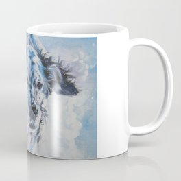 English Setter in Snow dog art from an original painting by L.A.Shepard Coffee Mug