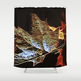 Fall Leaf Abtract Shower Curtain