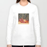 pomegranate Long Sleeve T-shirts featuring Pomegranate by Marie Carr