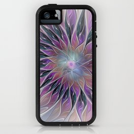 Fantasy Flower, Colorful Abstract Fractal Art iPhone Case